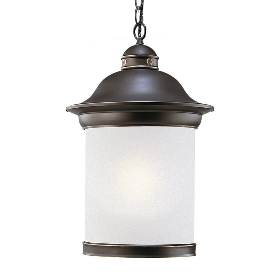 Sea Gull Lighting Hermitage 18-in Antique Bronze Outdoor Pendant Light ENERGY STAR