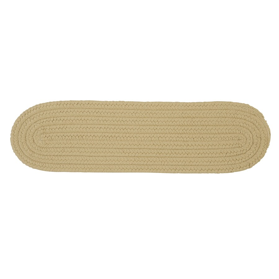 Colonial Mills Linen 13-Pack Oval Stair Tread Mat (Common: 8-in x 28-in; Actual: 8-in x 28-in)