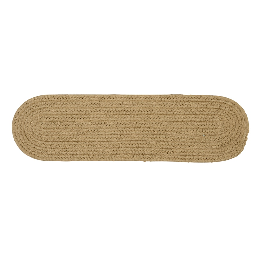Colonial Mills Cuban Sand 13-Pack Oval Stair Tread Mat (Common: 8-in x 28-in; Actual: 8-in x 28-in)