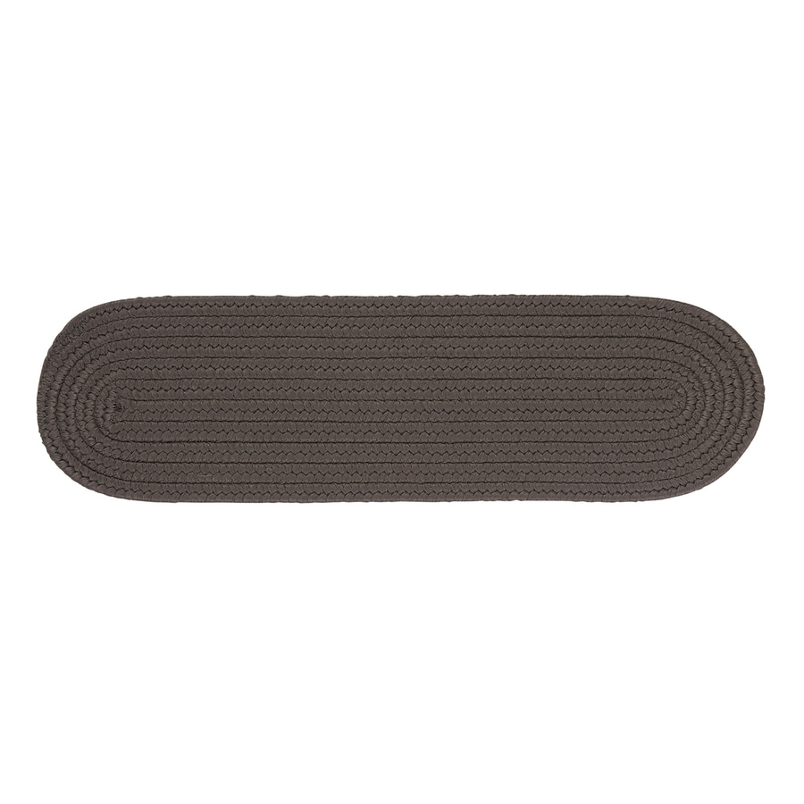 Colonial Mills Gray 13-Pack Oval Stair Tread Mat (Common: 8-in x 28-in; Actual: 8-in x 28-in)