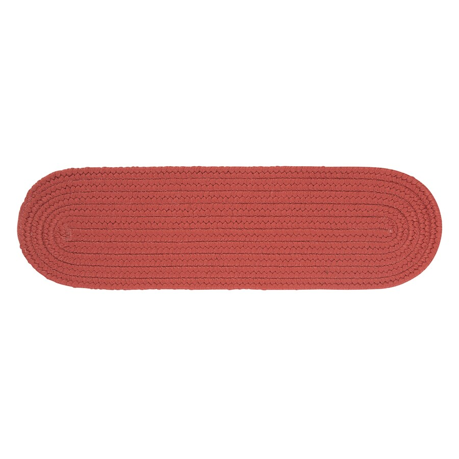 Colonial Mills Terracotta 13-Pack Oval Stair Tread Mat (Common: 8-in x 28-in; Actual: 8-in x 28-in)