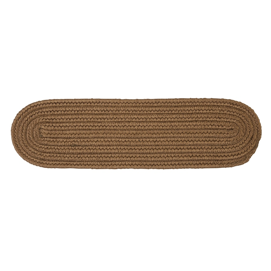 Colonial Mills Cashew 13-Pack Oval Stair Tread Mat (Common: 8-in x 28-in; Actual: 8-in x 28-in)
