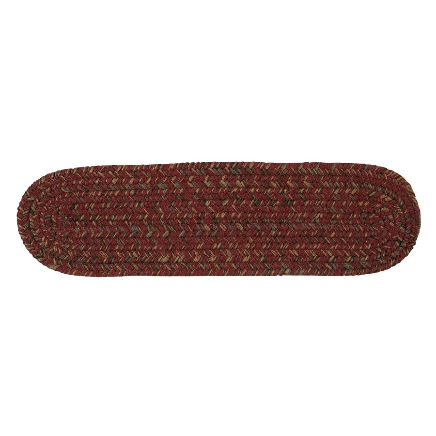 Colonial Mills Berry 13-Pack Oval Stair Tread Mat (Common: 8-in x 28-in; Actual: 8-in x 28-in)