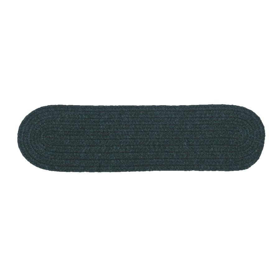 Colonial Mills Dark Green 13-Pack Oval Stair Tread Mat (Common: 8-in x 28-in; Actual: 8-in x 28-in)