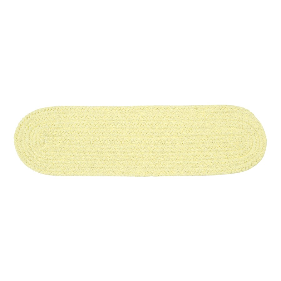 Colonial Mills Yellow 13-Pack Oval Stair Tread Mat (Common: 8-in x 28-in; Actual: 8-in x 28-in)
