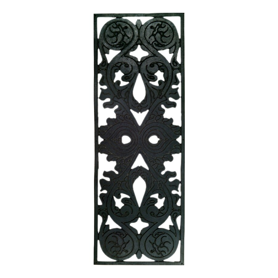 Imports Decor Black Rectangular Stair Tread Mat (Common: 9-in x 30-in; Actual: 10-in x 30-in)