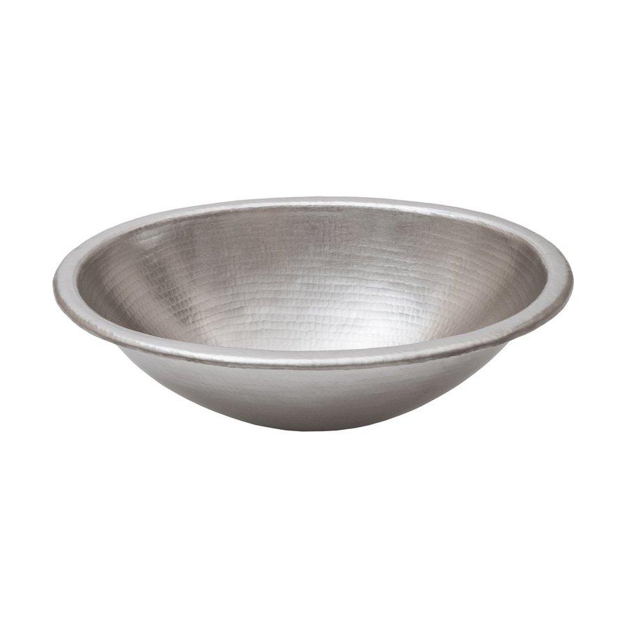 Premier Copper Products Nickel Copper Drop-In Oval Bathroom Sink