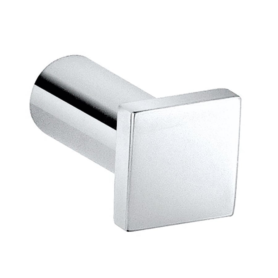 WS Bath Collections Metric 1-Hook Polished Chrome Robe Hook