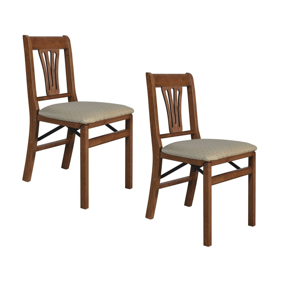 Stakmore Set of 2 Indoor Wood Cherry Standard Folding Chair