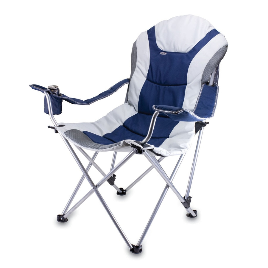 Shop Picnic Time Navy Steel Folding Camping Chair At Lowes Com