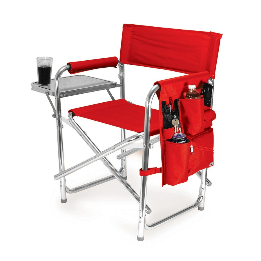 shop picnic time red aluminum folding camping chair at. Black Bedroom Furniture Sets. Home Design Ideas