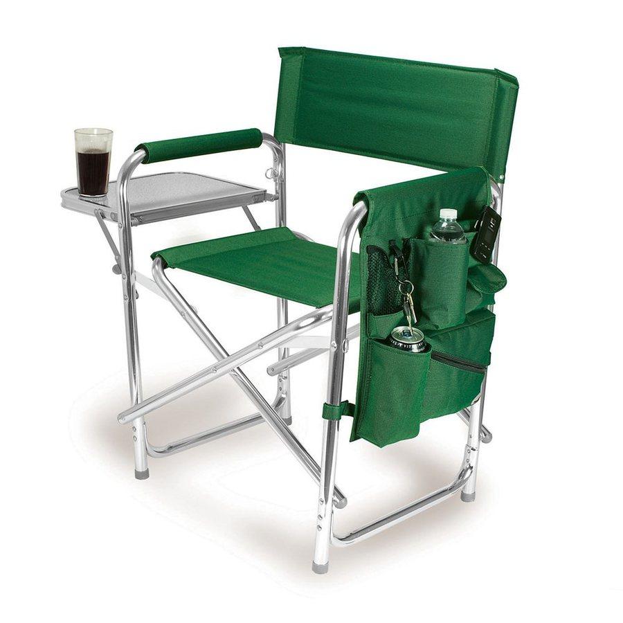 Picnic Time Green Aluminum Folding Camping Chair