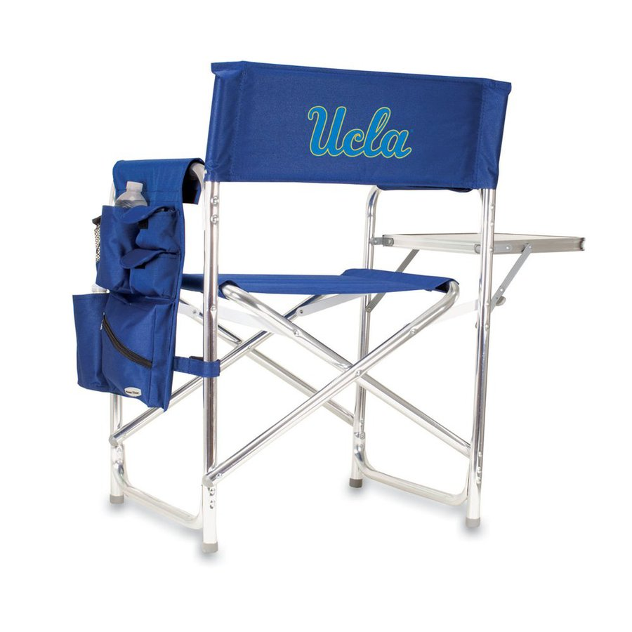 Picnic Time Blue NCAA University Of California Los Angeles Bruins Aluminum Folding Camping Chair