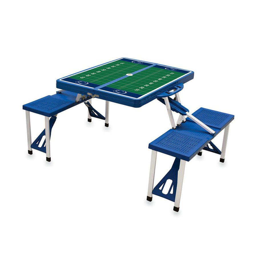 Picnic Time 2-ft 1-4/5-in Blue Penn State Nittany Lions Plastic Square Folding Picnic Table