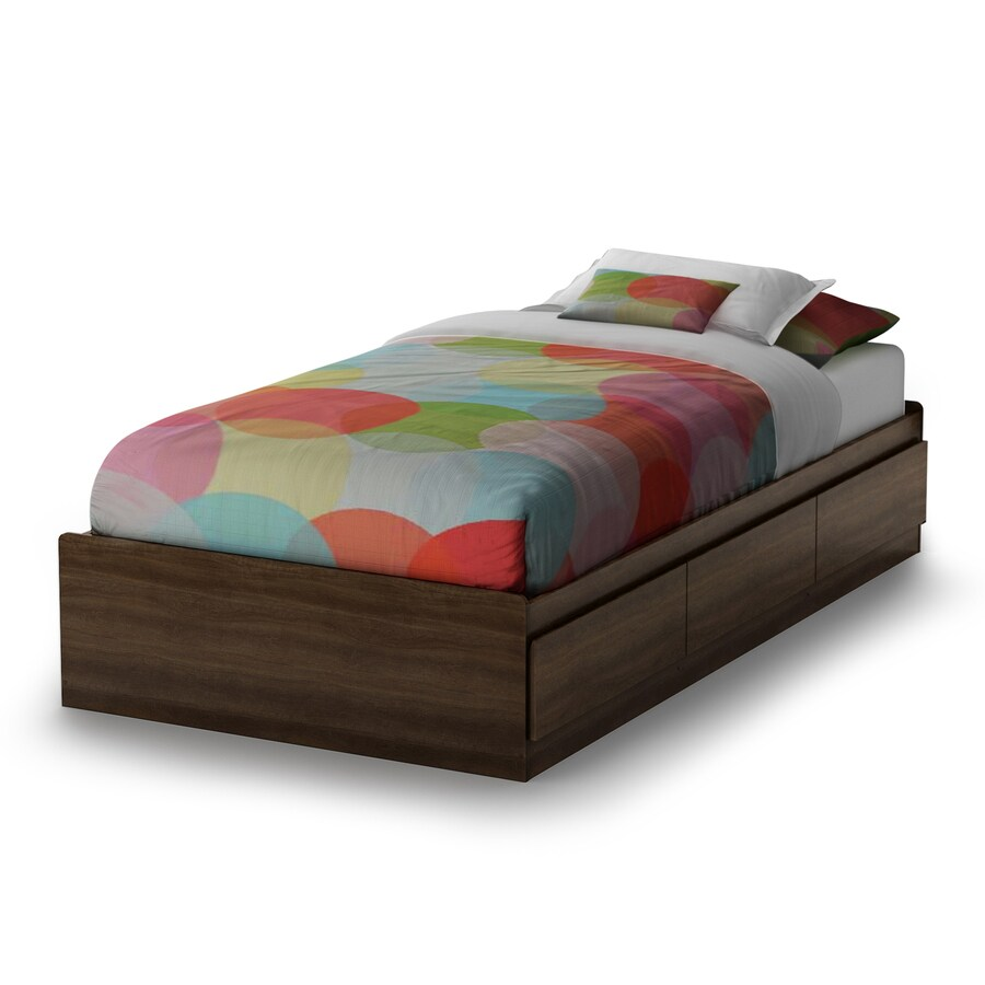 South Shore Furniture Popular Mocha Twin Platform Bed with Storage