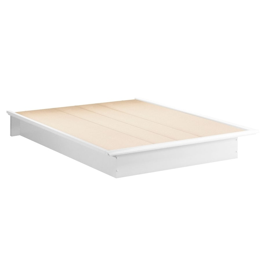 South Shore Furniture Step One Pure White Queen Platform Bed