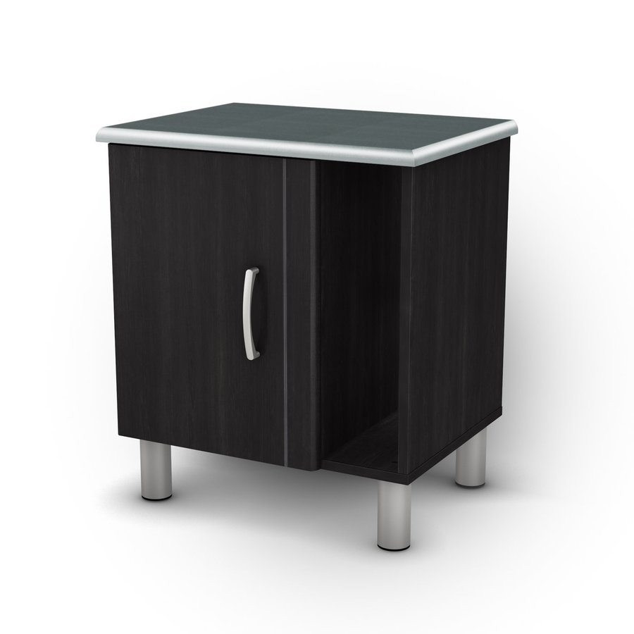 South Shore Furniture Cosmos Black Onyx/Charcoal Nightstand