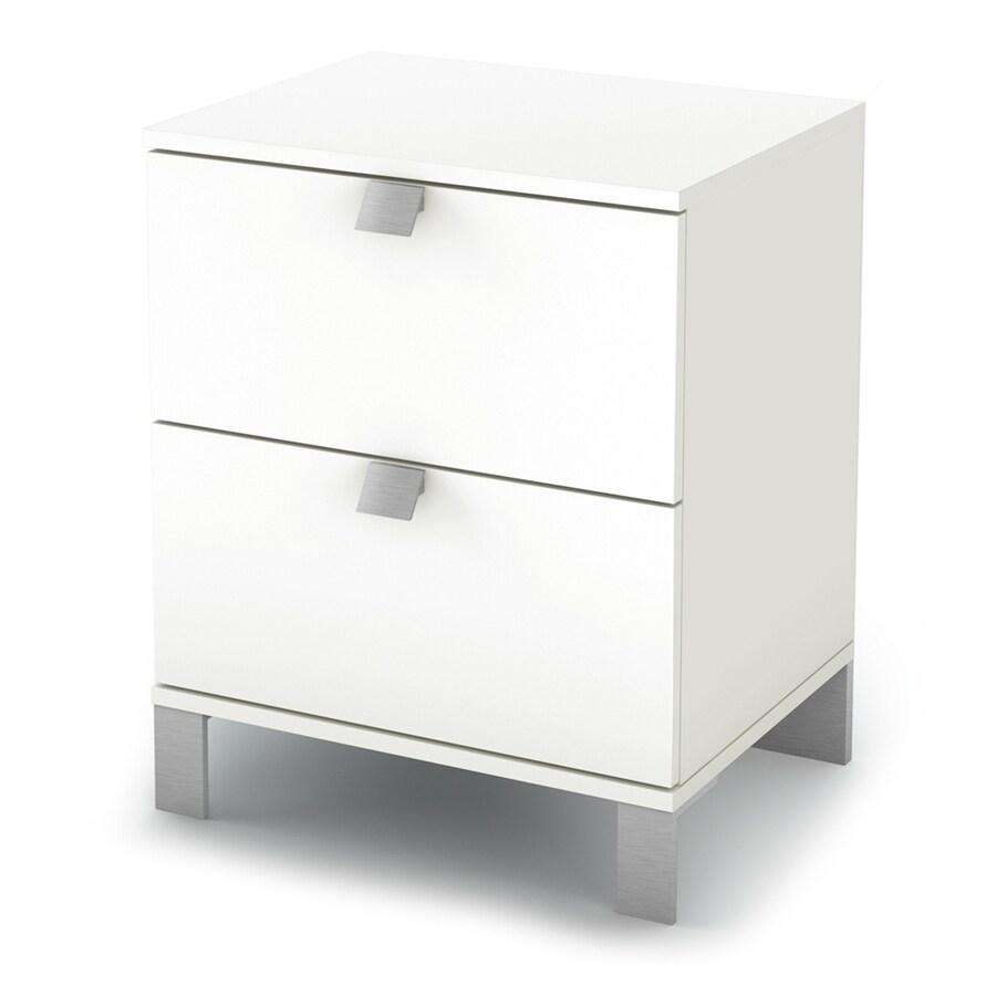 South Shore Furniture Sparkling Pure White Composite Nightstand
