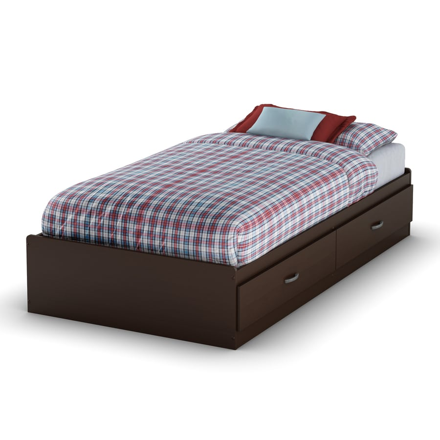 South Shore Furniture Logik Chocolate Twin Platform Bed with Storage