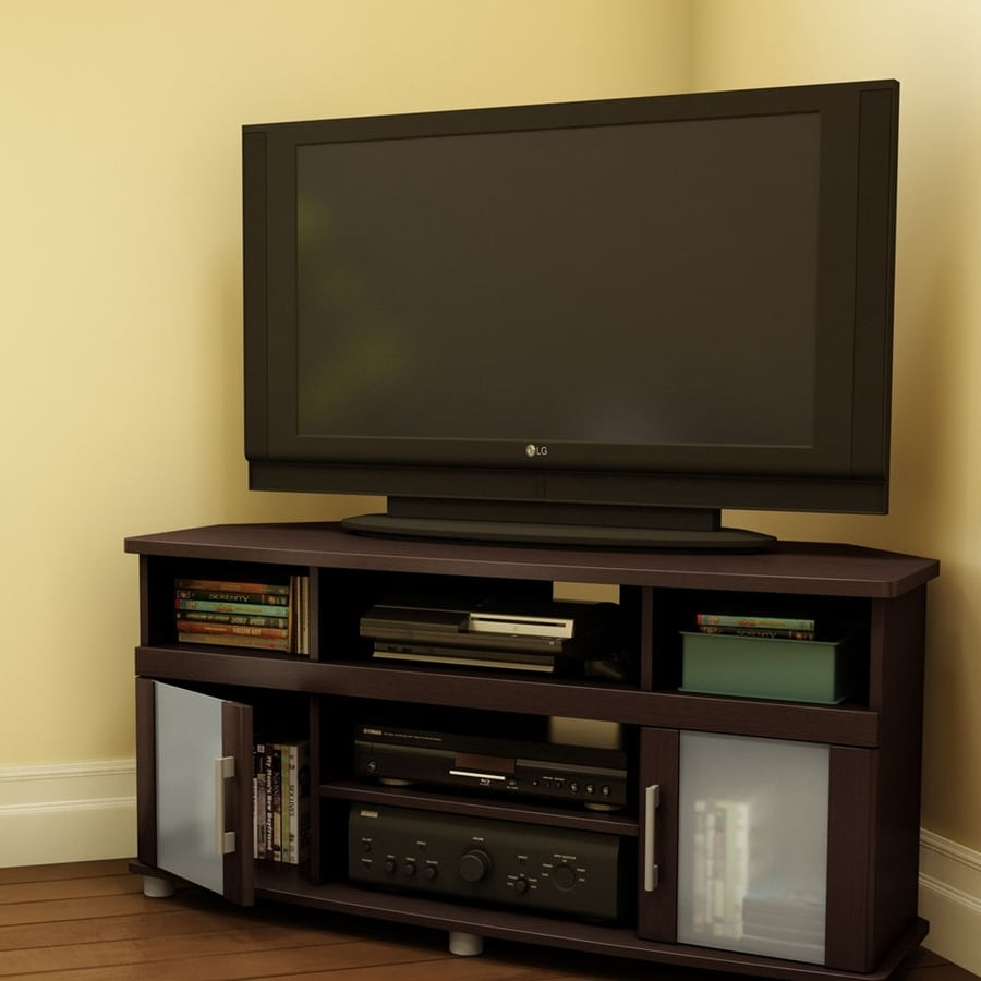 South Shore Furniture City Life Espresso Corner Corner Television Stand