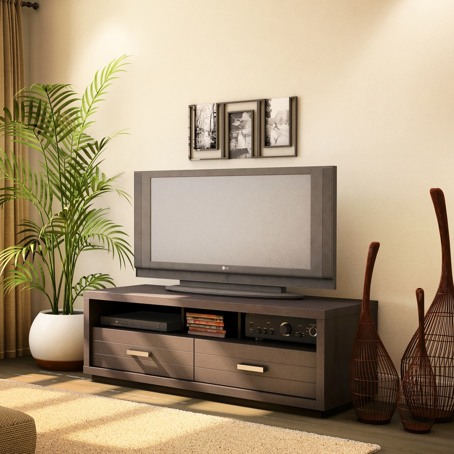 South Shore Furniture Skyline Endless Chocolate Rectangular Television Cabinet