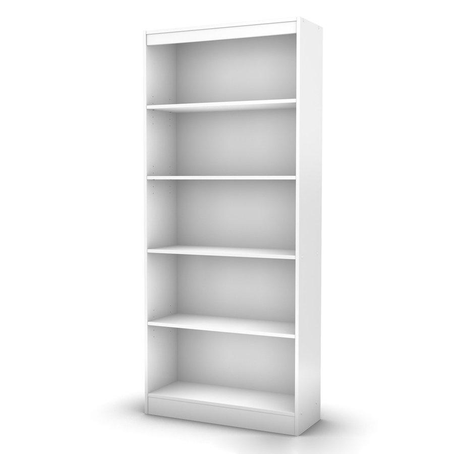 South Shore Furniture Axess Pure White 30.75-in W x 71.25-in H x 11.5-in D 5-Shelf Bookcase