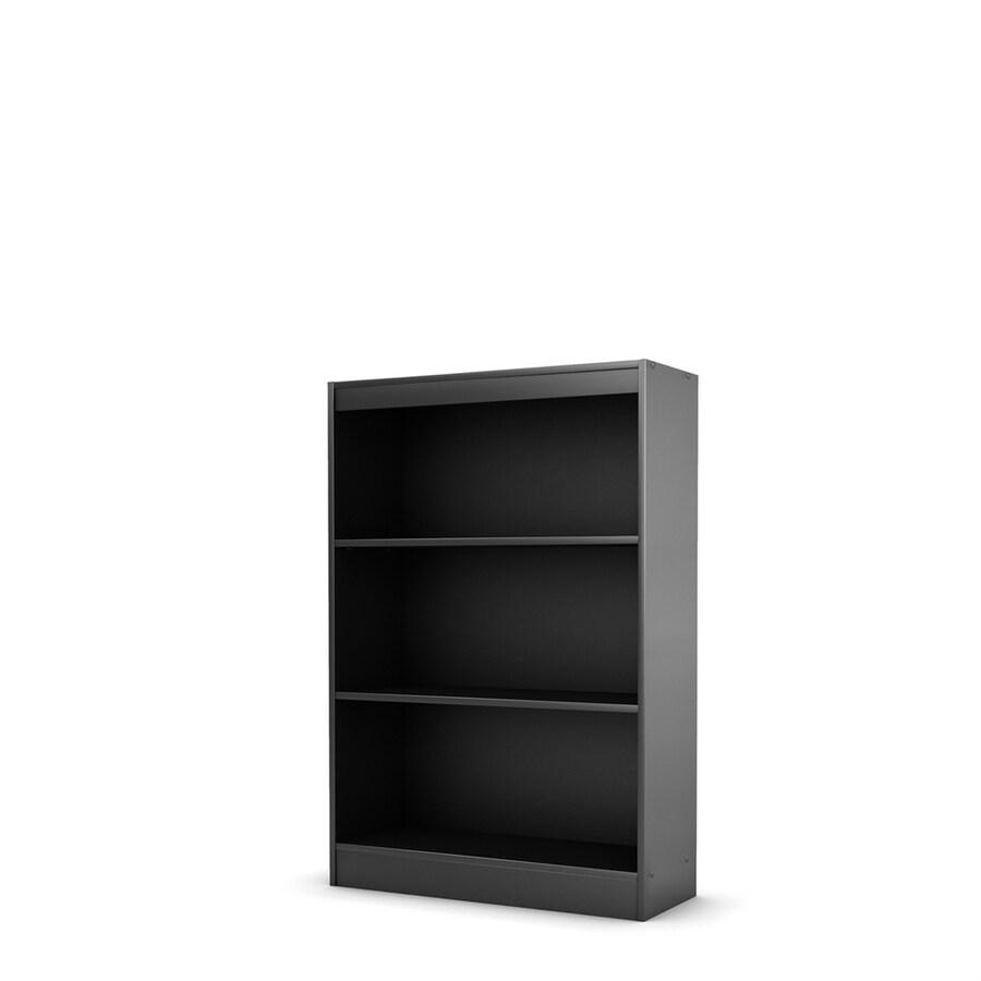 South Shore Furniture Axess Pure Black 30.75-in W x 45-in H x 11.5-in D 3-Shelf Bookcase