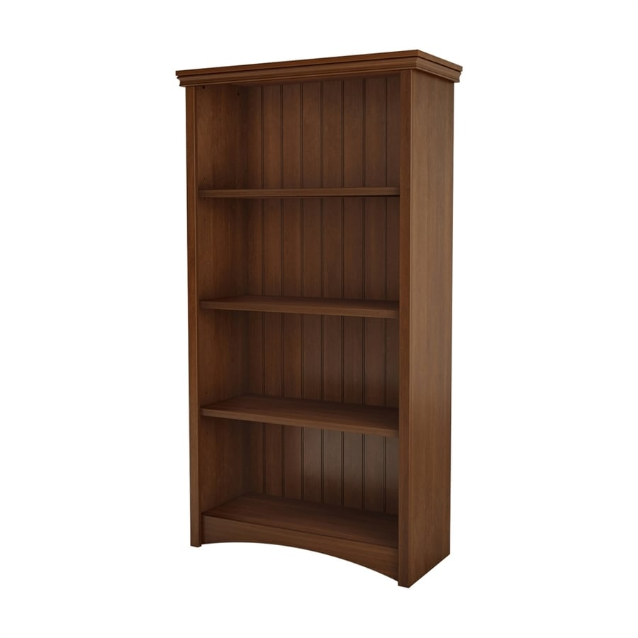 South Shore Furniture Gascony Sumptuous Cherry 31.5-in W x 58.25-in H x 13-in D 4-Shelf Bookcase