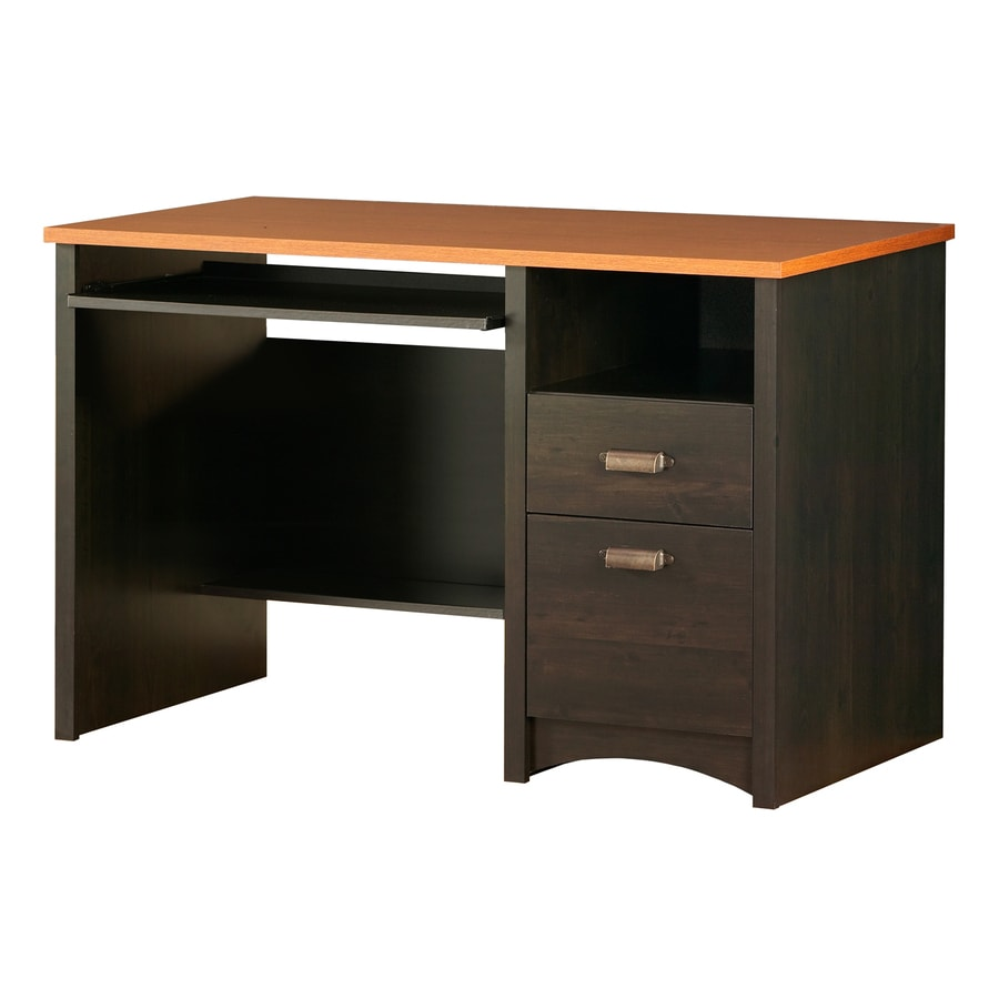 shop south shore furniture gascony spice wood ebony computer desk at