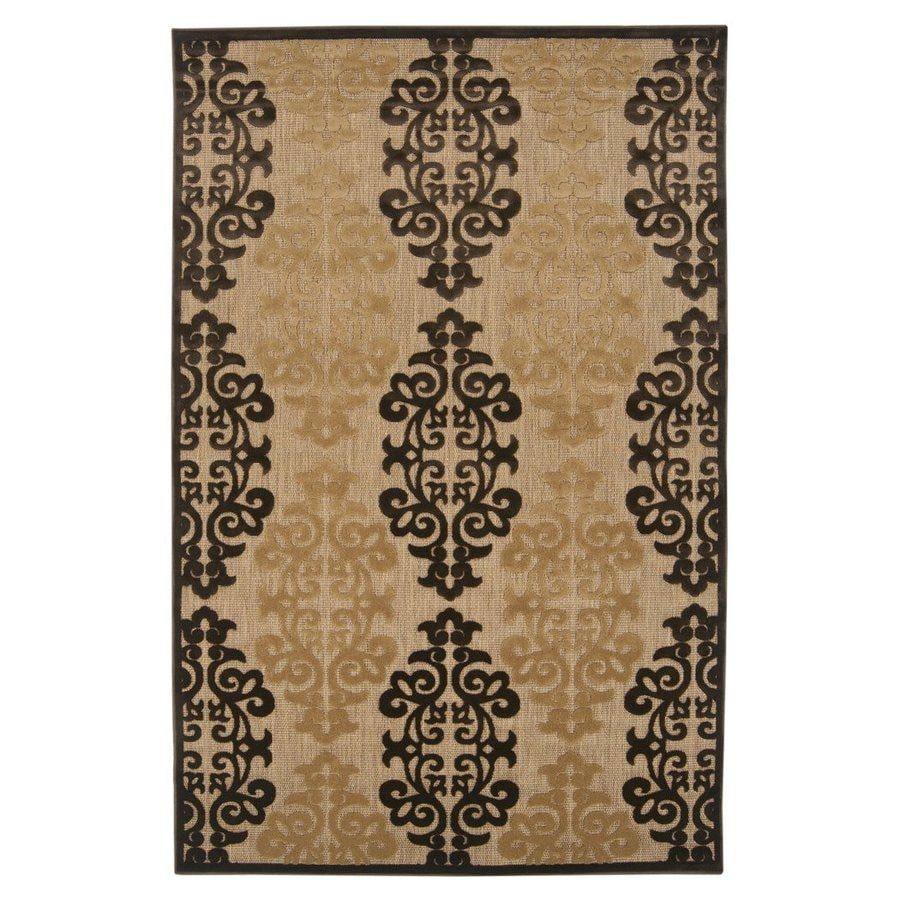 Surya Portera Brown Rectangular Indoor/Outdoor Machine-Made Area Rug (Common: 8 x 11; Actual: 94-in W x 128-in L)
