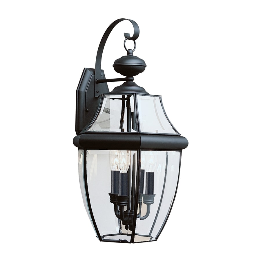 Sea Gull Lighting Lancaster 23-in H Black Outdoor Wall Light