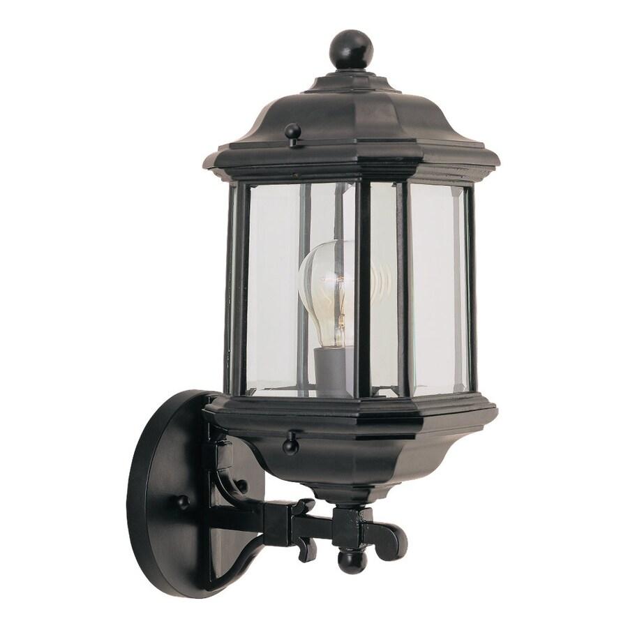 Sea Gull Lighting Kent 15-in H Black Outdoor Wall Light