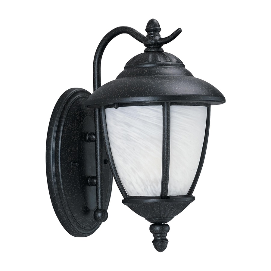Shop Sea Gull Lighting Yorktown 13-in H Forged Iron Outdoor Wall Light at Lowes.com