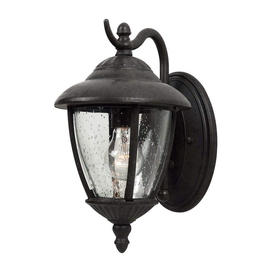 Sea Gull Lighting Lambert Hill 13.25-in H Oxford Bronze Outdoor Wall Light