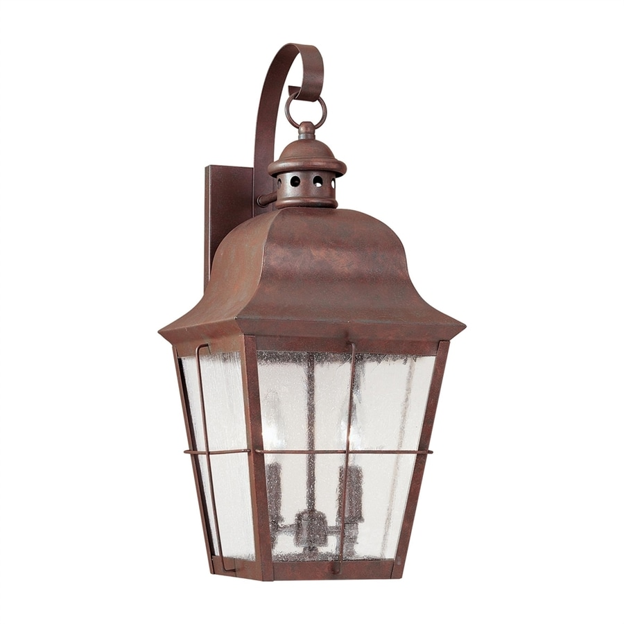 Shop Sea Gull Lighting Chatham 21-in H Weathered Copper Outdoor Wall Light at Lowes.com