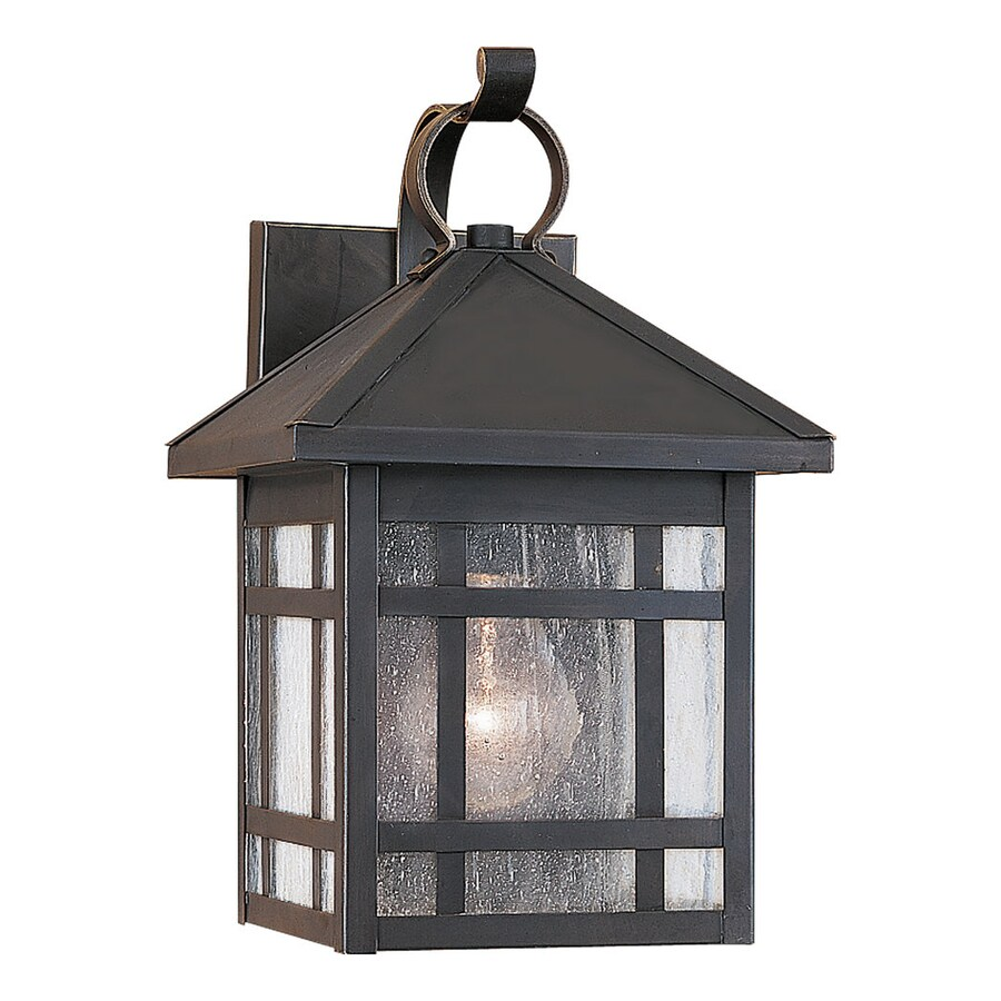 Sea Gull Lighting Largo 11.25-in H Antique Bronze Outdoor Wall Light