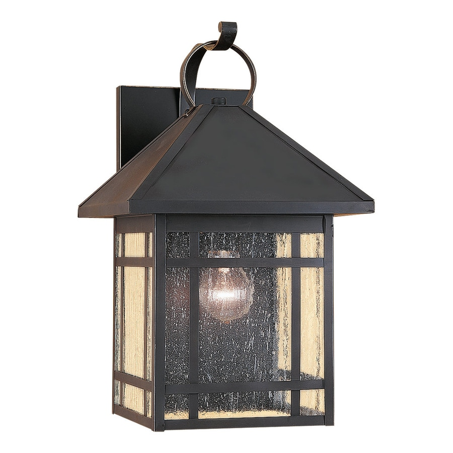 Antique Outdoor Wall Lamps : Shop Sea Gull Lighting Largo 16.75-in H Antique Bronze Outdoor Wall Light at Lowes.com
