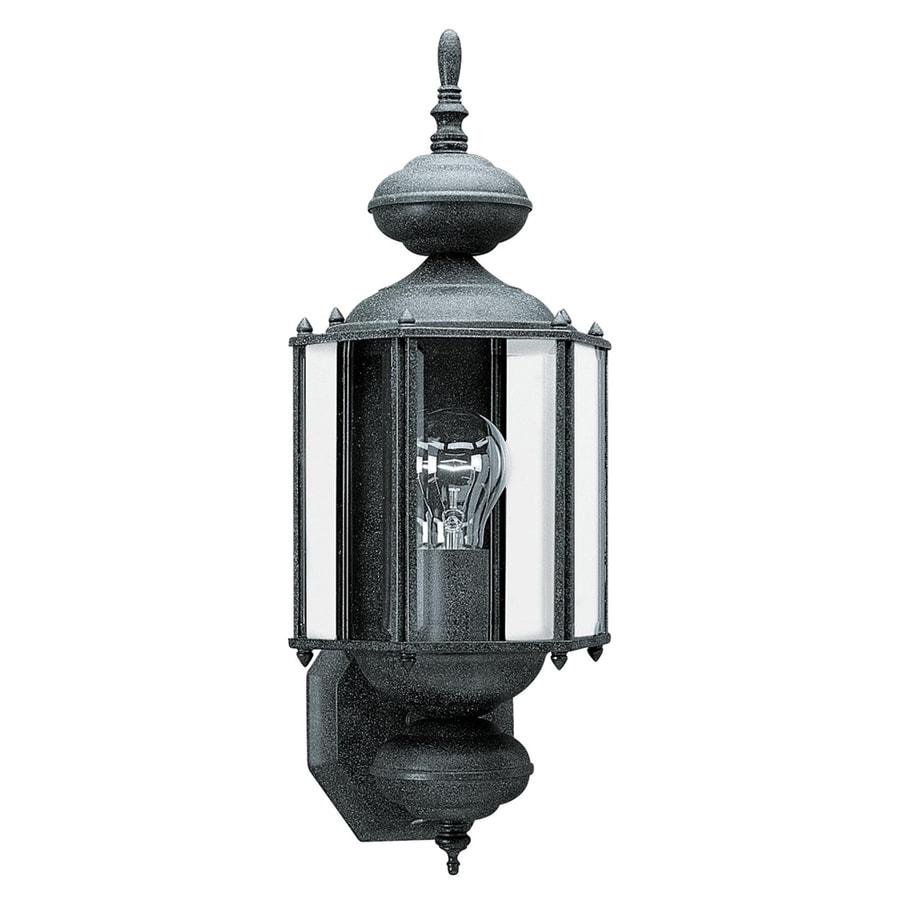 Sea Gull Lighting Classico 25.5-in H Black Outdoor Wall Light