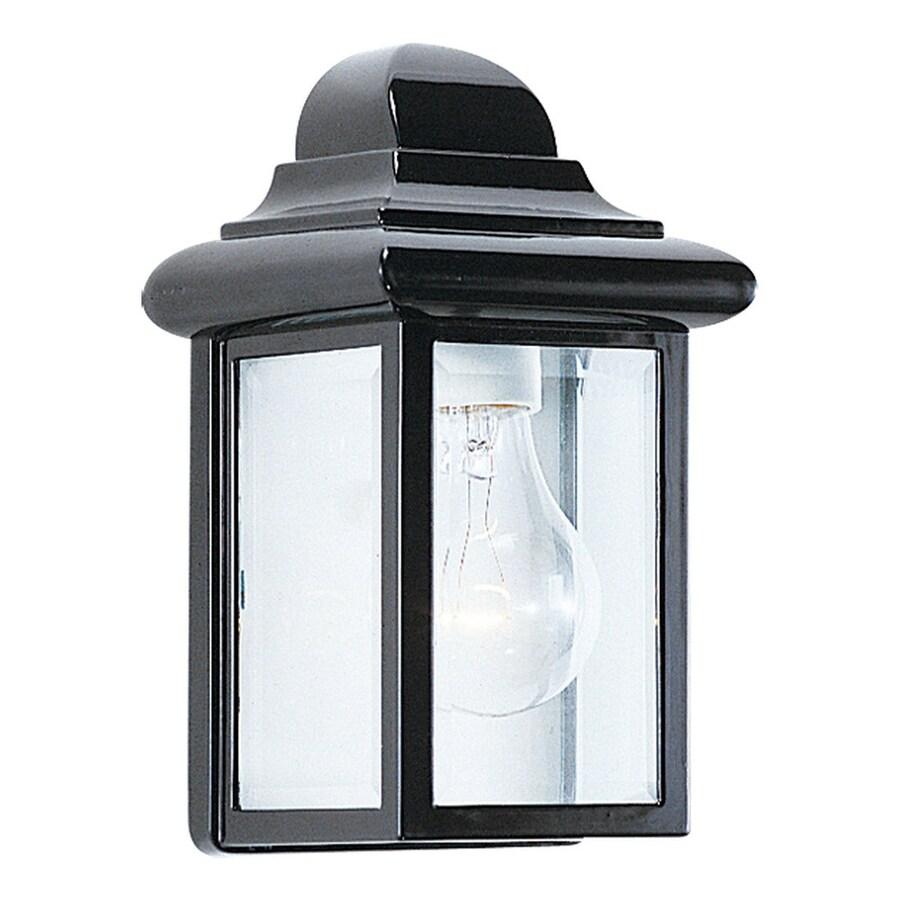 Sea Gull Lighting Mullberry Hill 8.75-in H Black Outdoor Wall Light
