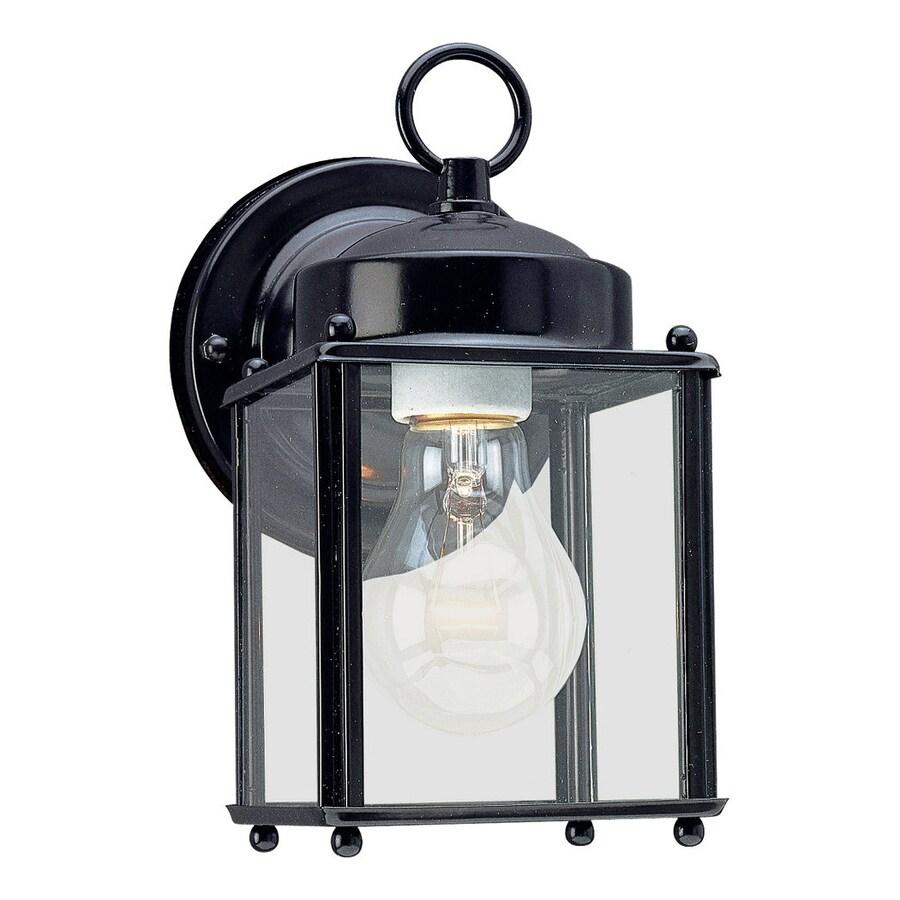 Sea Gull Lighting New Castle 8.25-in H Black Outdoor Wall Light