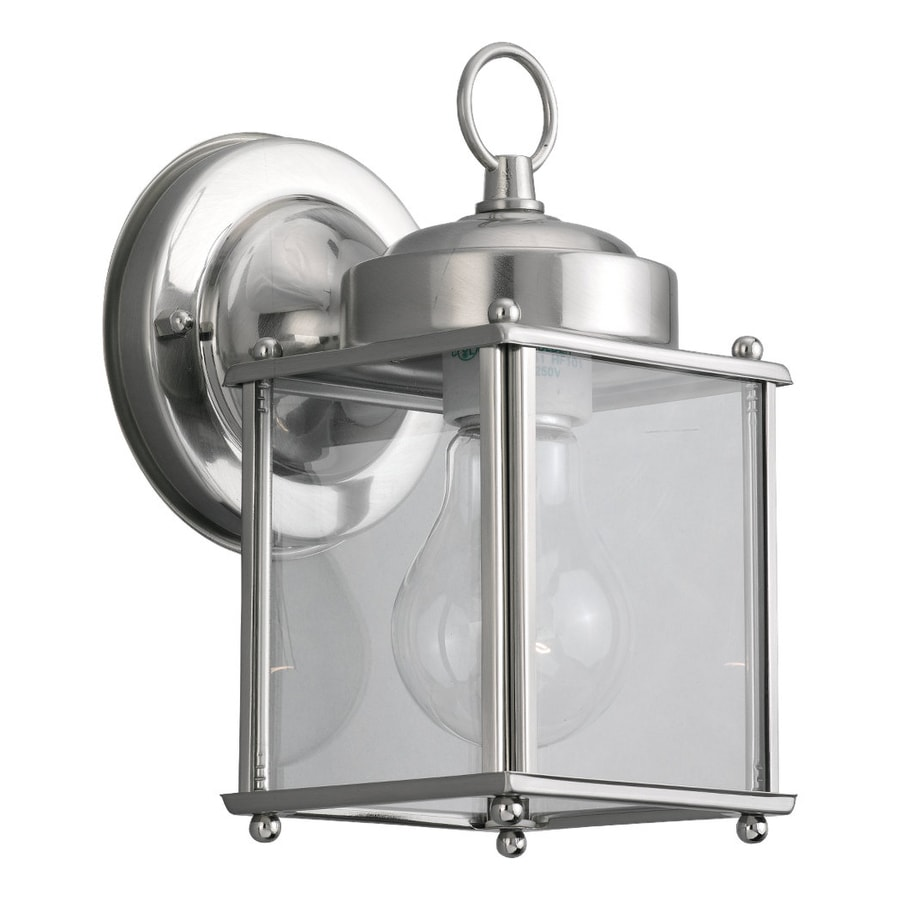 Sea Gull Lighting New Castle 8.25-in H Antique Brushed Nickel Outdoor Wall Light