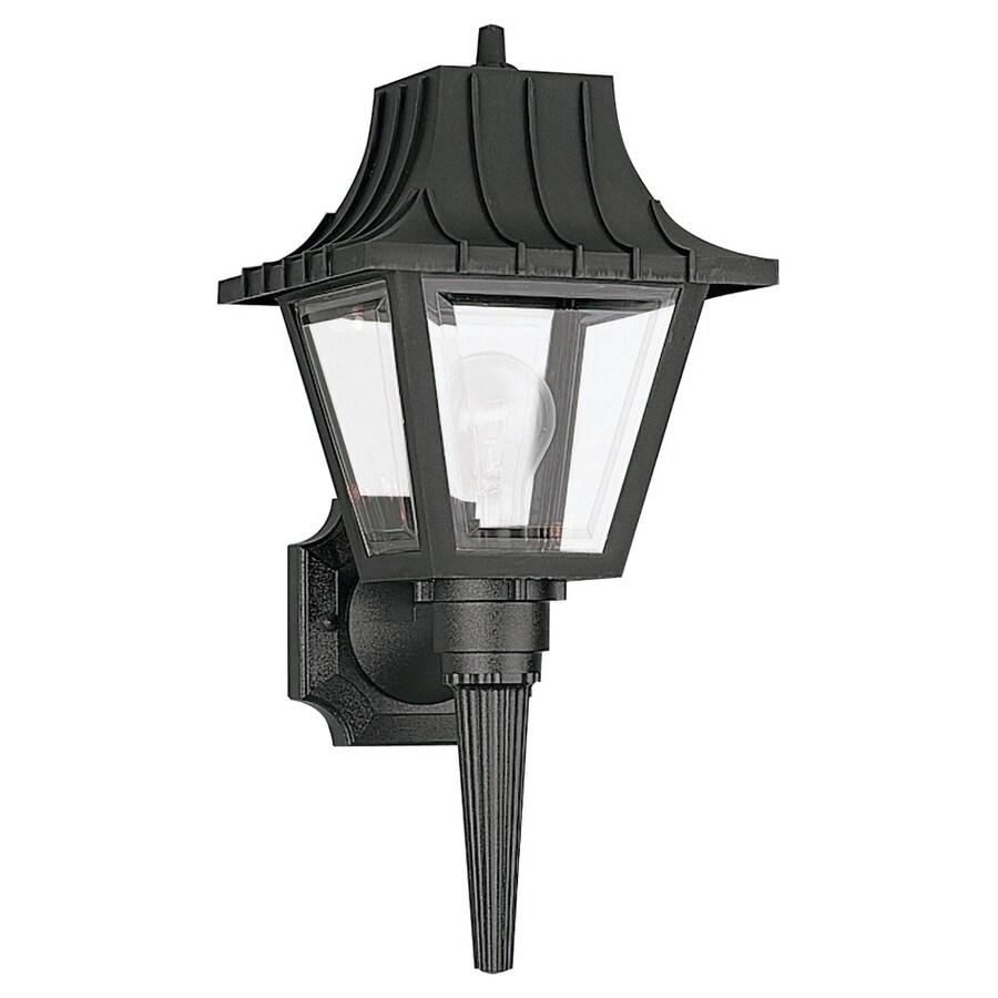 Sea Gull Lighting 17.5-in H Black Outdoor Wall Light