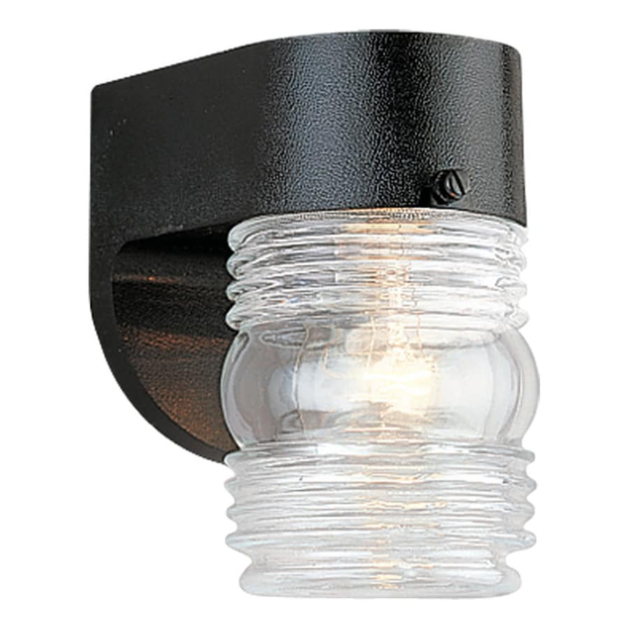 Sea Gull Lighting 6-in H Black Outdoor Wall Light