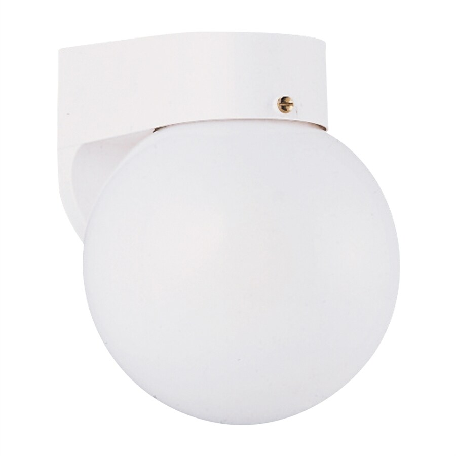 Sea Gull Lighting 7.25-in H White Outdoor Wall Light