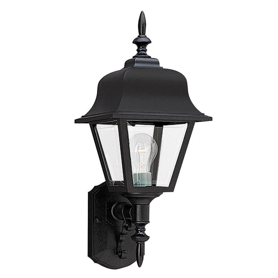 Sea Gull Lighting 25-in H Black Outdoor Wall Light
