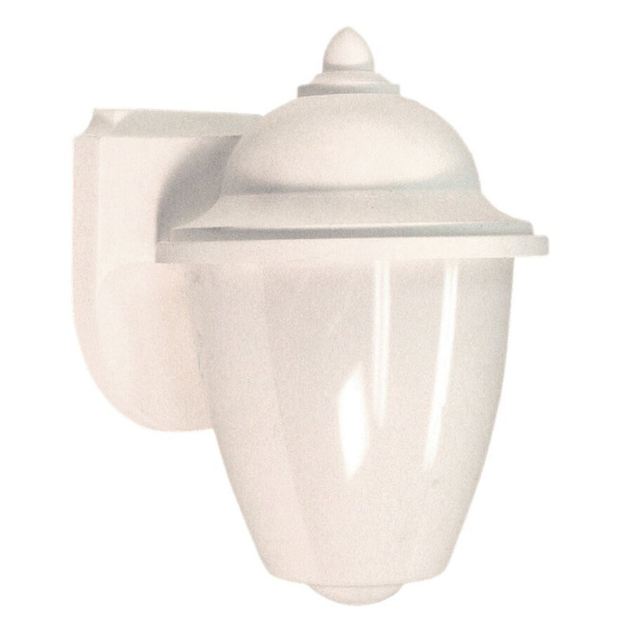 Sea Gull Lighting Lormont 9-in H White Outdoor Wall Light