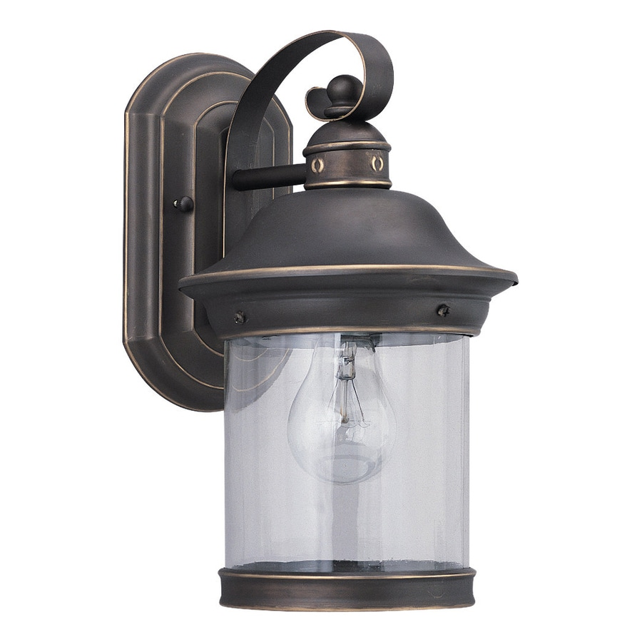 Sea Gull Lighting Hermitage 13.5-in H Antique Bronze Outdoor Wall Light