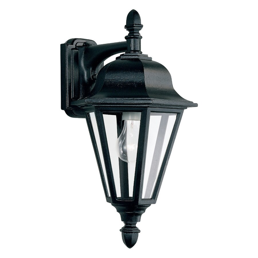 Sea Gull Lighting Brentwood 18-in H Black Outdoor Wall Light