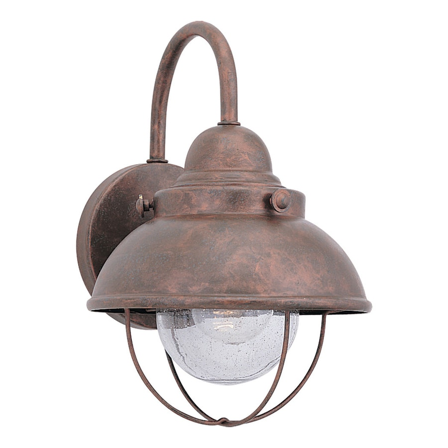 Sea Gull Lighting Sebring 11.25-in H Weathered Copper Outdoor Wall Light
