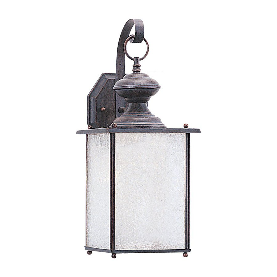 Sea Gull Lighting Jamestowne 17-in H Textured Rust Patina Outdoor Wall Light ENERGY STAR